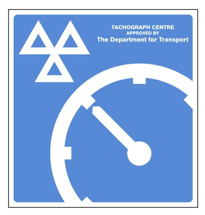 1a Approved Tachograph Centre Sign